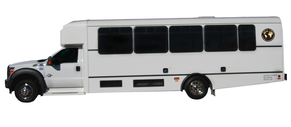 Earth Limos of LAS VEGAS 21-28 Passenger shuttle bus
