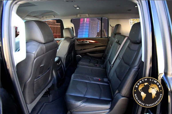Earth Limos of LAS VEGAS Cadillac Escalade ESV Interior Shot 3