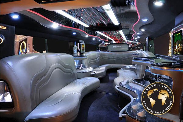 Earth Limos of LAS VEGAS 14 Passenger Hummer Limo Interior Shot 3