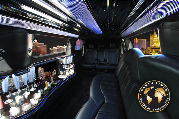 Earth Limos of LAS VEGAS Lincoln MKT Limo Interior Shot 3