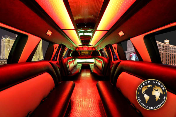 Earth Limos of Las Vegas 25 Passenger F650 Super Stretch Interior Shot 2
